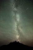 Lluvia de meteoritos y vía láctea de Perseid Fotos de archivo libres de regalías
