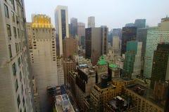 Lluvia de New York City Imágenes de archivo libres de regalías