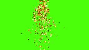 Lluvia de oro del confeti stock de ilustración