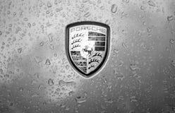 Lluvia de Porsche Imagen de archivo libre de regalías