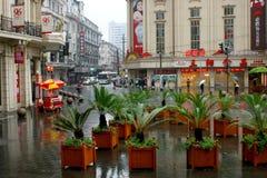 Lluvia de Shangai, China Imagen de archivo libre de regalías