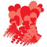Lluvia del colorete del amor Fotografía de archivo libre de regalías