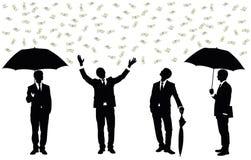 Lluvia del dinero. Fotografía de archivo libre de regalías