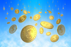 Lluvia del dinero Foto de archivo libre de regalías