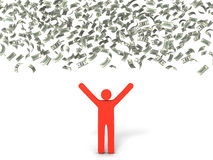 Lluvia del dinero Ilustración del Vector