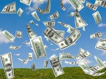 Lluvia del dinero Foto de archivo