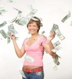 Lluvia del dólar Foto de archivo libre de regalías