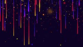 Lluvia del meteorito, starfall, lluvia del color, espacio ilustración del vector