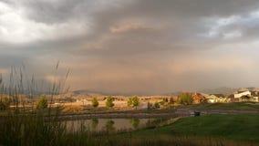 Lluvia del verano en Missoula Fotos de archivo