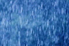 Lluvia en azul Imágenes de archivo libres de regalías