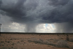 Lluvia en el desierto Fotografía de archivo