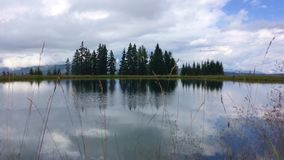 Lluvia en el lago almacen de metraje de vídeo