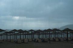 Lluvia en el mar Fotos de archivo