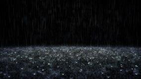 Lluvia en fondo negro libre illustration