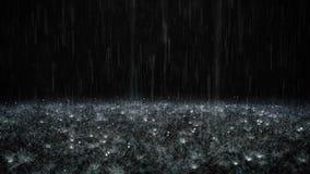 Lluvia en fondo negro ilustración del vector
