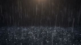 Lluvia en fondo negro metrajes