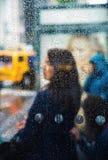 Lluvia en la ciudad Fotografía de archivo libre de regalías