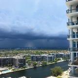 Lluvia en la Florida del sur Foto de archivo libre de regalías