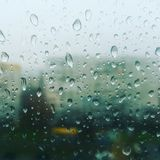 Lluvia en la ventana Fotografía de archivo libre de regalías