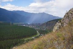 Lluvia en las montañas Fotos de archivo