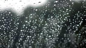 Lluvia en una ventana almacen de metraje de vídeo