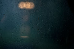 Lluvia en ventana Imagen de archivo libre de regalías