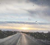 Lluvia en ventana imagen de archivo