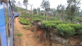 Lluvia local en Sri Lanka almacen de metraje de vídeo