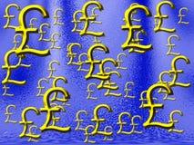 Lluvia Reino Unido del dinero ilustración del vector
