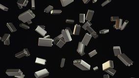 Lluvia sin fin de nueve baterías de voltio en una oscuridad ilustración del vector