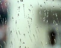 Lluvia sobre el vidrio Fotografía de archivo