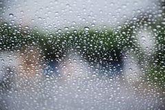 Lluvia sobre el vidrio Imagen de archivo libre de regalías