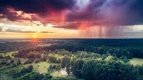 Lluvia y sol Foto de archivo libre de regalías