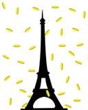 Lluvia y torre del oro libre illustration