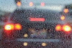 Lluvia y tráfico Imagen de archivo libre de regalías