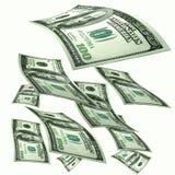 Lluvias del dinero Imágenes de archivo libres de regalías