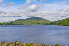 Llyn Celyn with Arenig Fach in the background. stock photos