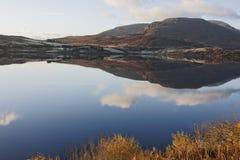 Llyn Celyn reflexioner Fotografering för Bildbyråer