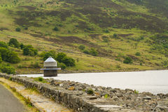 Llyn Celyn reservoir and intake tower Royalty Free Stock Photo