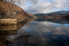 Llyn Dinas reflections Royalty Free Stock Photos
