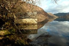 Llyn Dinas reflections Stock Photos