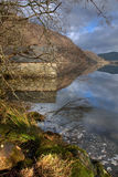 Llyn Dinas reflections Stock Photography