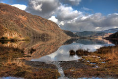Llyn Dinas reflections Royalty Free Stock Photography