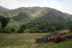 Llyn Dinas Valley near Beddgelert Stock Images