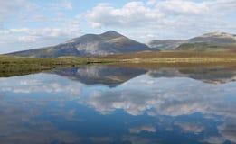 Llyn Dwythwch reflections Stock Image