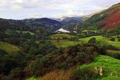 Llyn Gwynant at the centre of Snowdonia Stock Photos