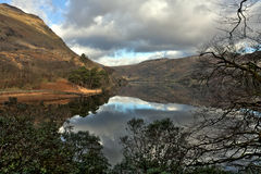 Llyn Gwynant reflections Royalty Free Stock Photos