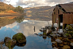Llyn Gwynant reflections Stock Images
