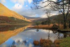 Llyn Gwynant, Snowdonia, Pays de Galles Images libres de droits