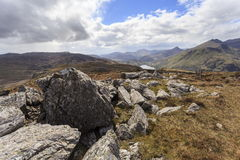 Llyn Gwynant From the West Side of Moel Siabod Royalty Free Stock Photos